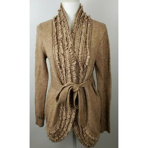 Chicos open front knit cardigan sweater sz 1 med